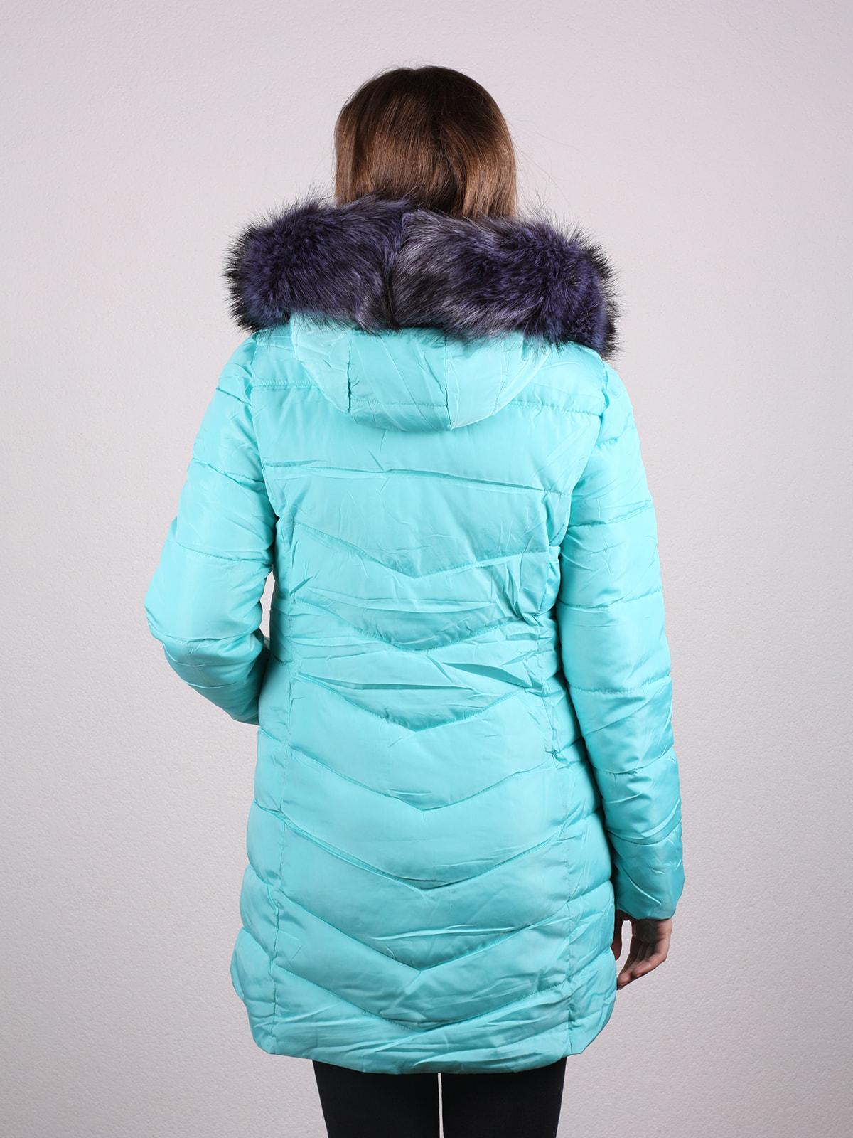 Пальто бірюзове | 4697648 | фото 3