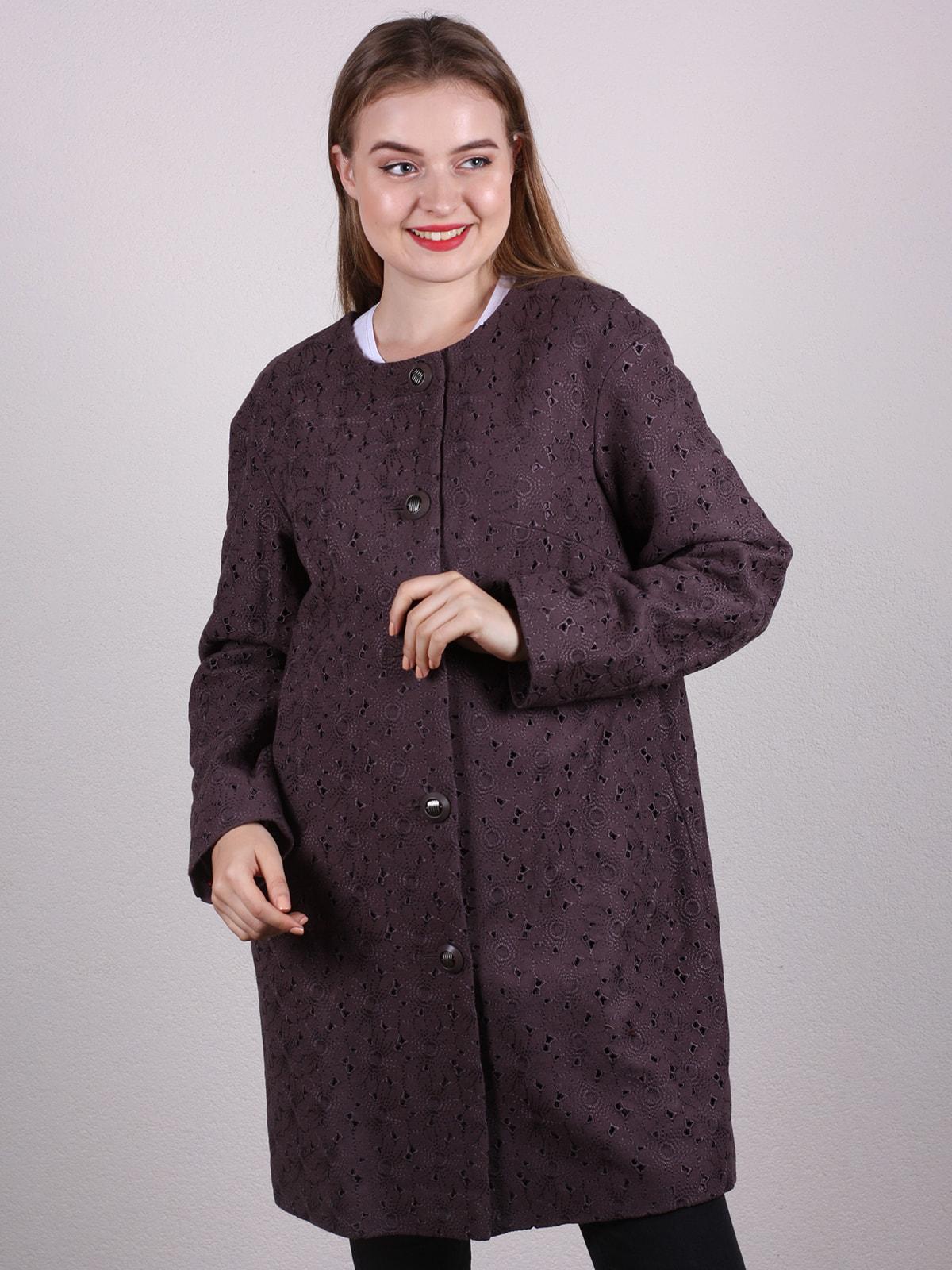 Пальто темно-фиолетовое | 4697651