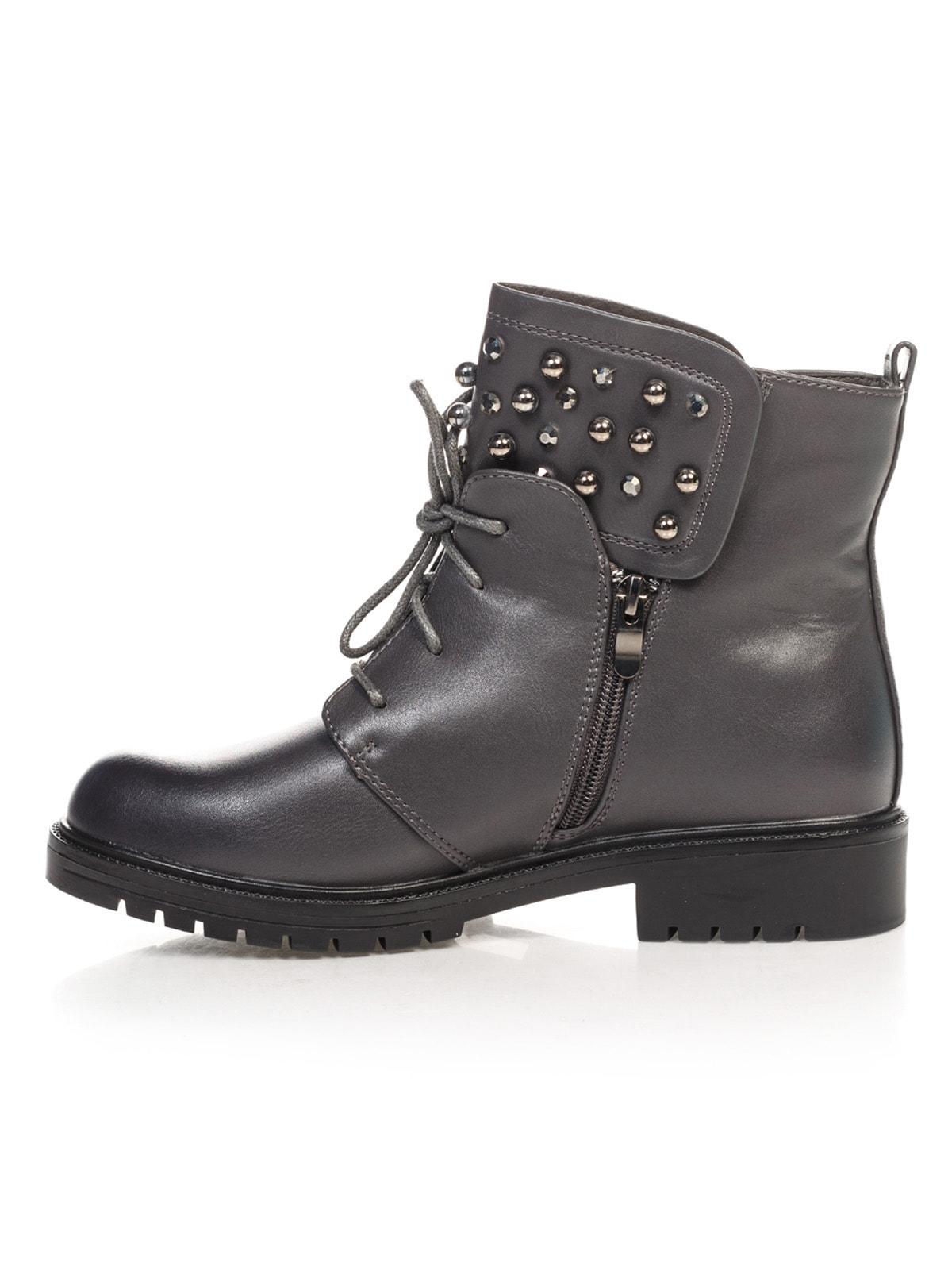 Ботинки серые | 4688264 | фото 2