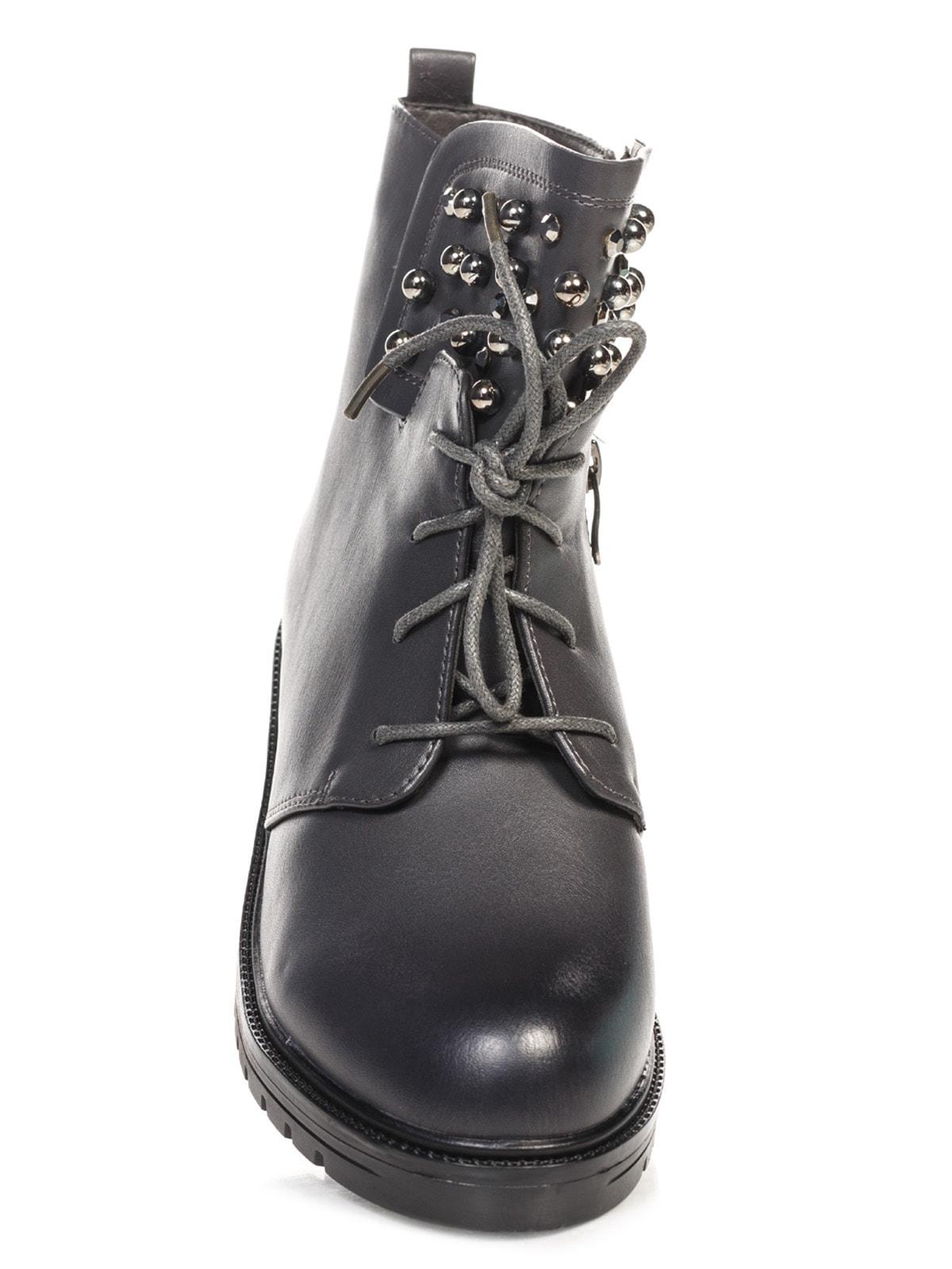 Ботинки серые | 4688264 | фото 4