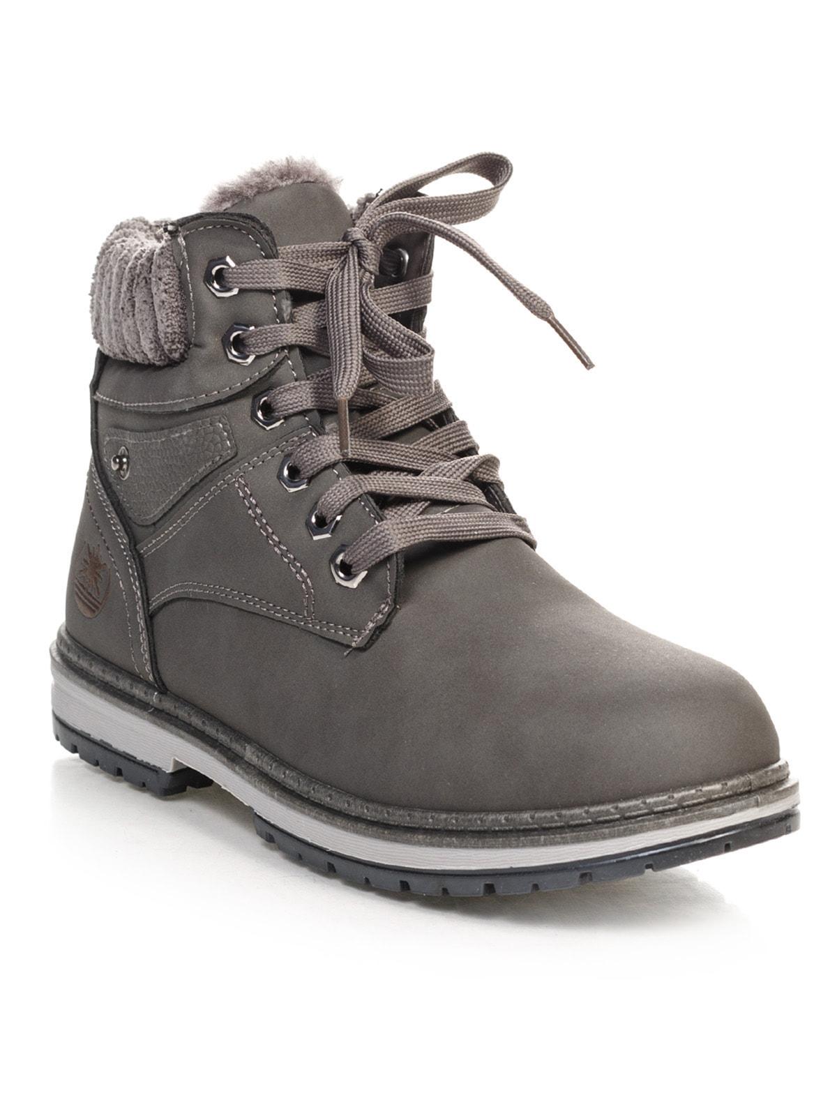 Ботинки серые   4663774