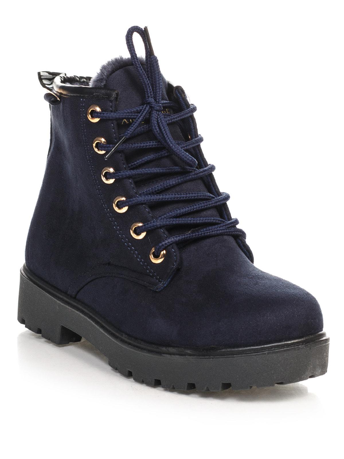 Ботинки синие   4663773