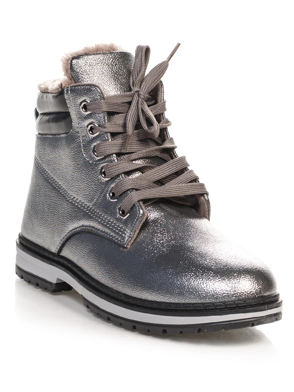 Ботинки серебристые   4663775