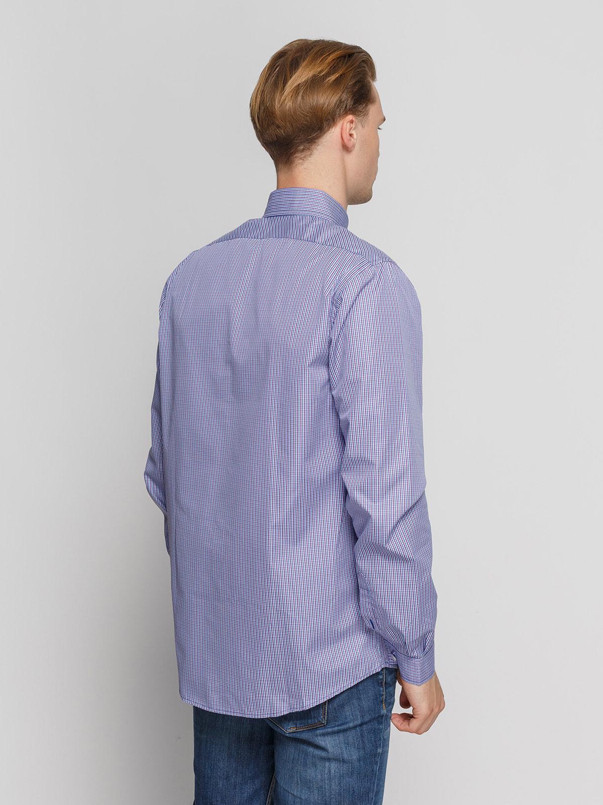 Рубашка в сине-бордовую клетку | 4683190 | фото 2