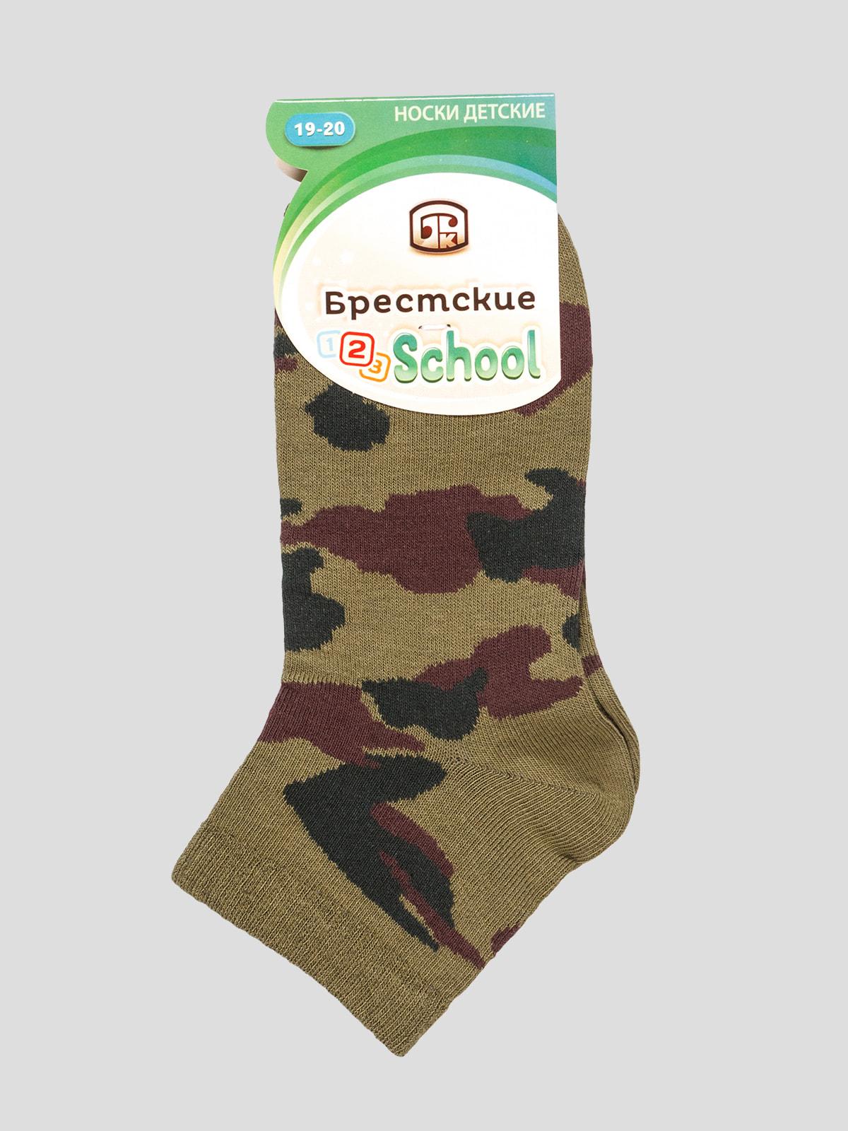 Шкарпетки кольору хакі з малюнком   4663729
