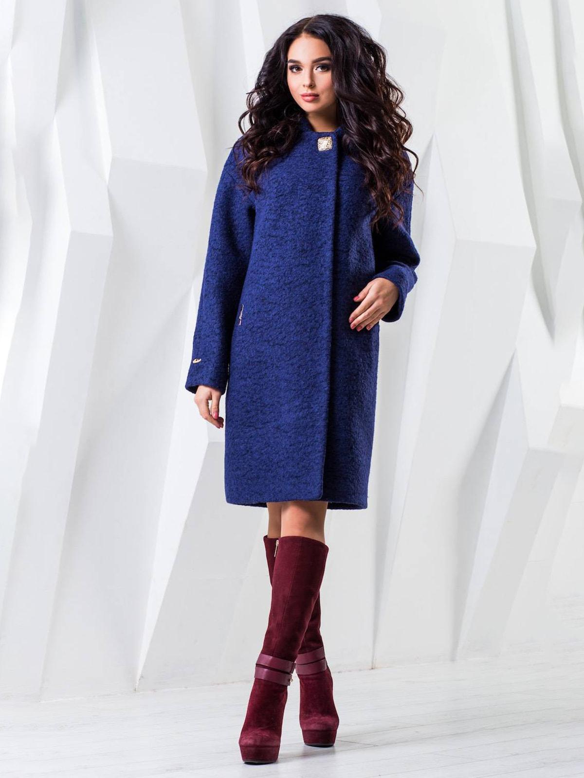 Пальто темно-синее меланжевое | 4616894