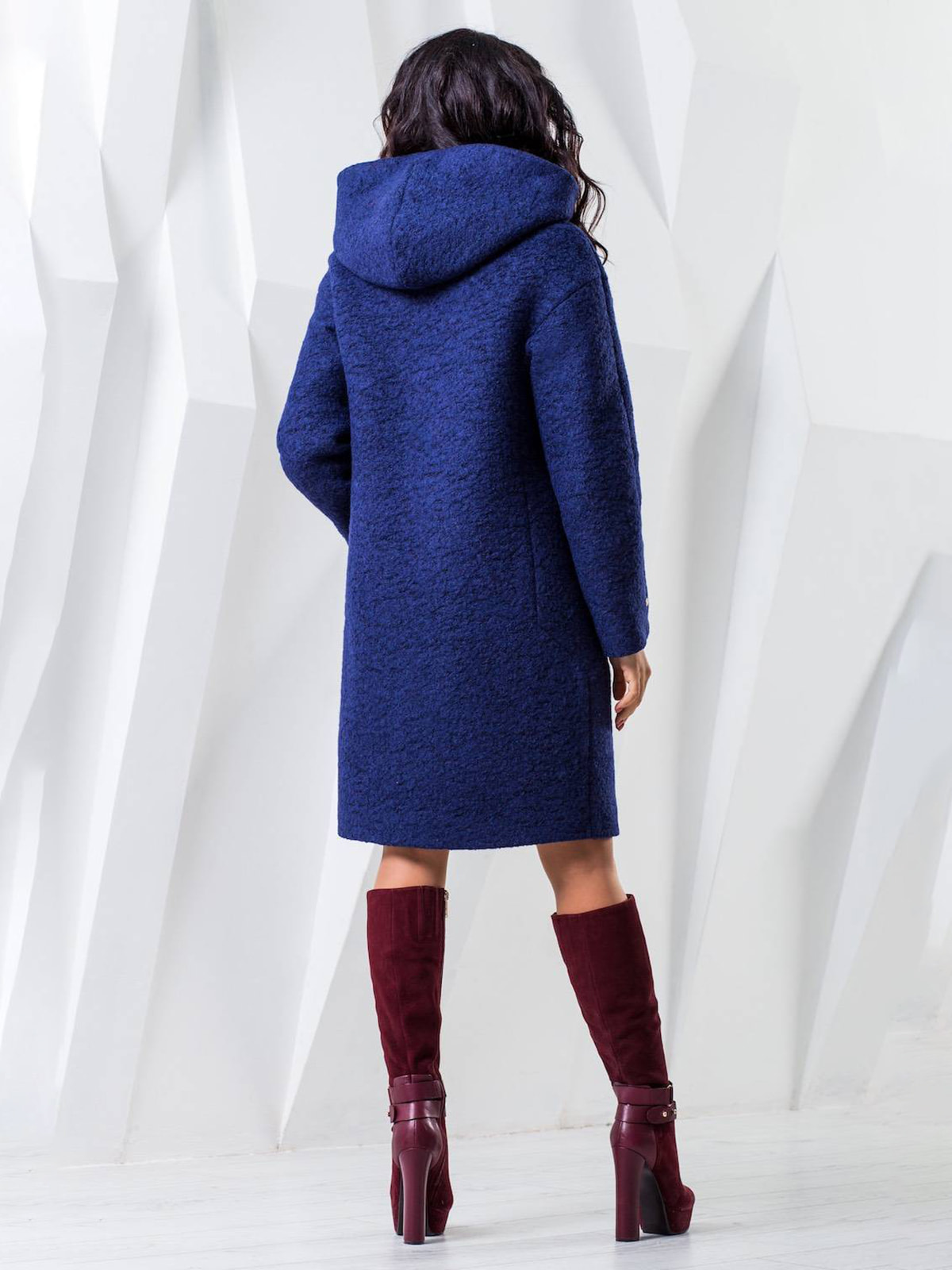 Пальто темно-синее меланжевое | 4616894 | фото 3