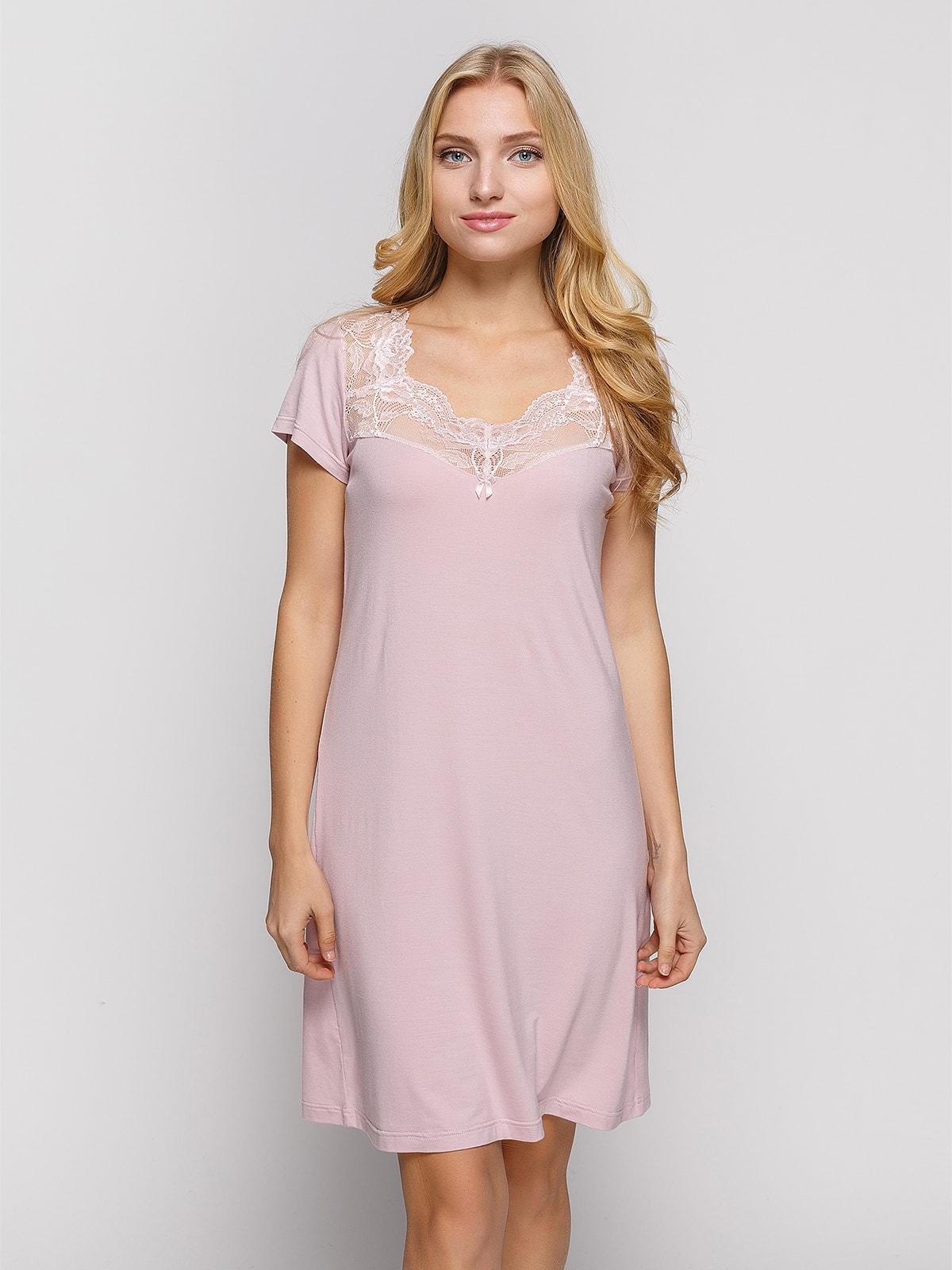 Рубашка ночная розовая | 4697538