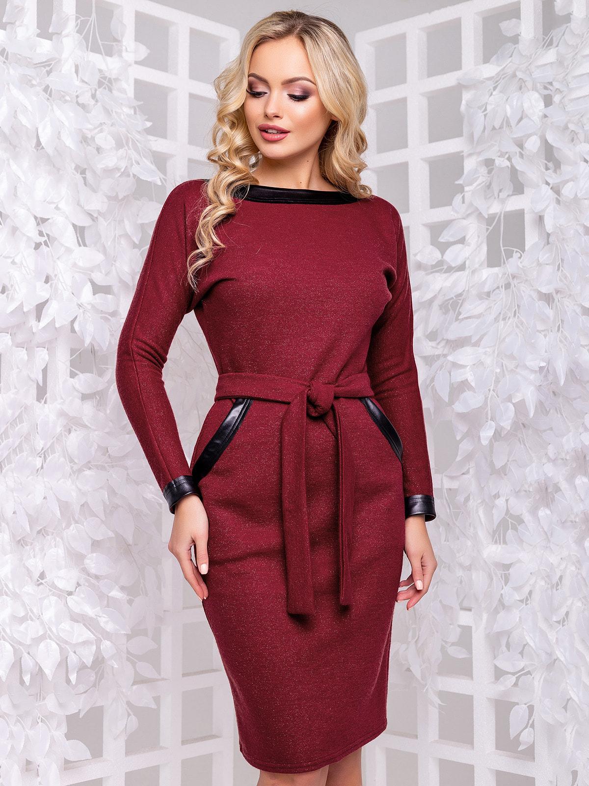 Платье бордовое   4702475