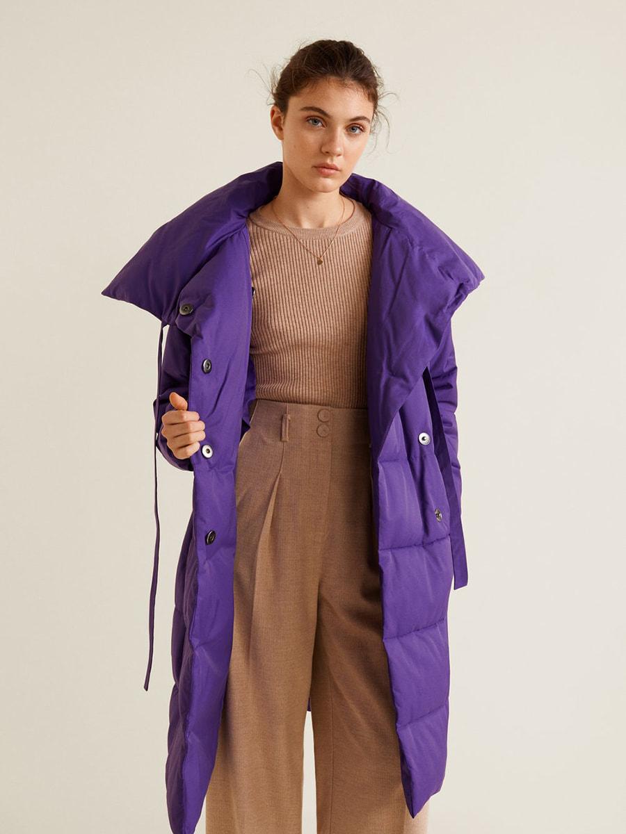 Пуховик фіолетовий | 4575551