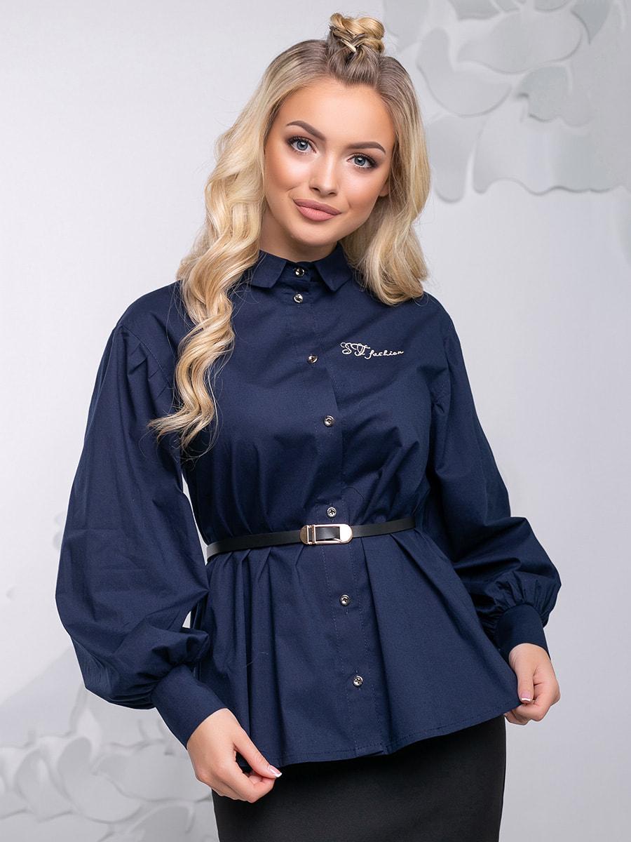 Блуза синя | 4621710 | фото 4