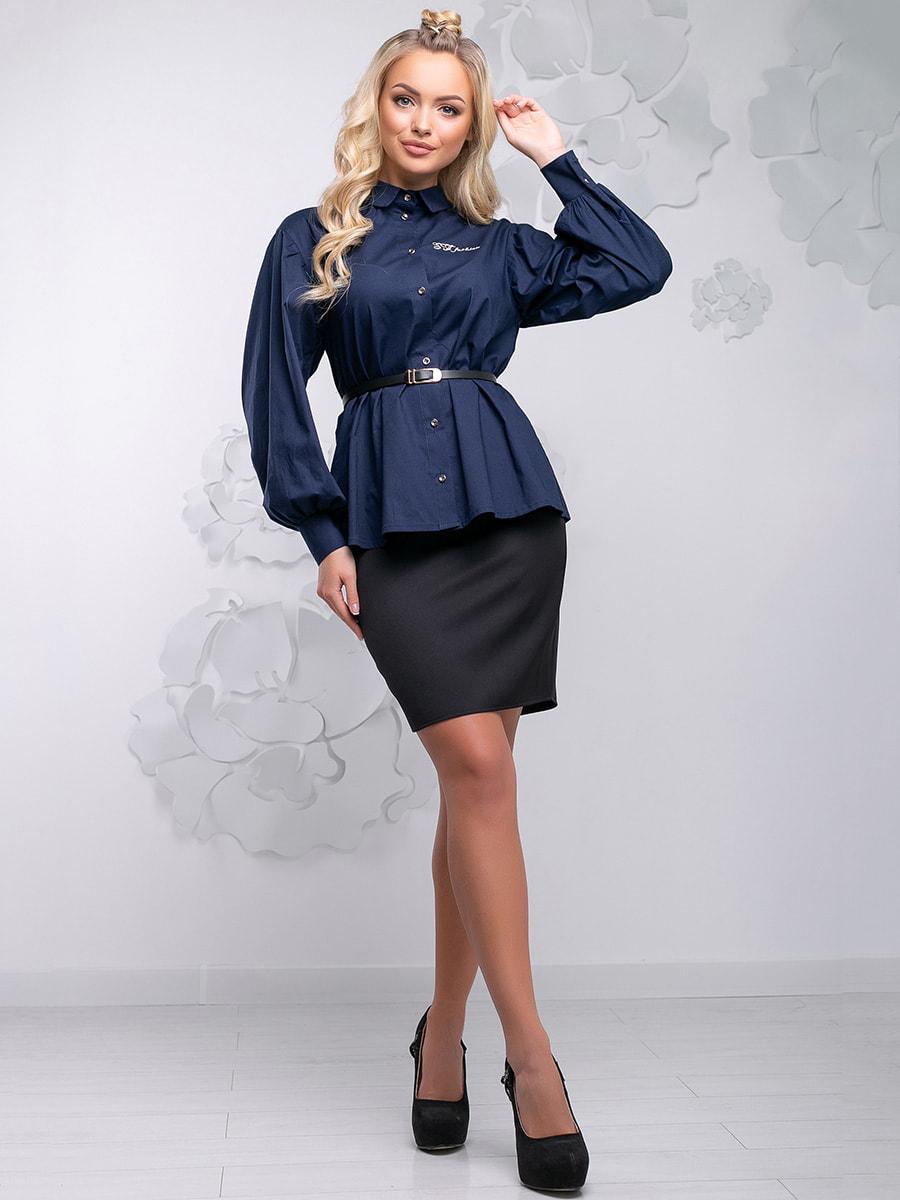 Блуза синя | 4621710 | фото 5
