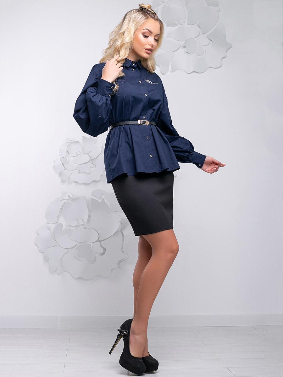 Блуза синя | 4621710 | фото 7