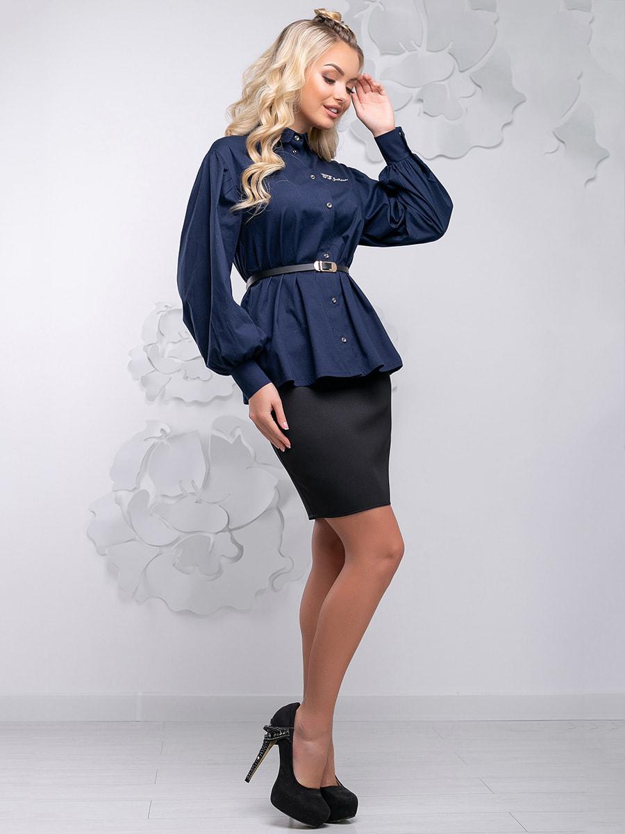 Блуза синя | 4621710 | фото 8