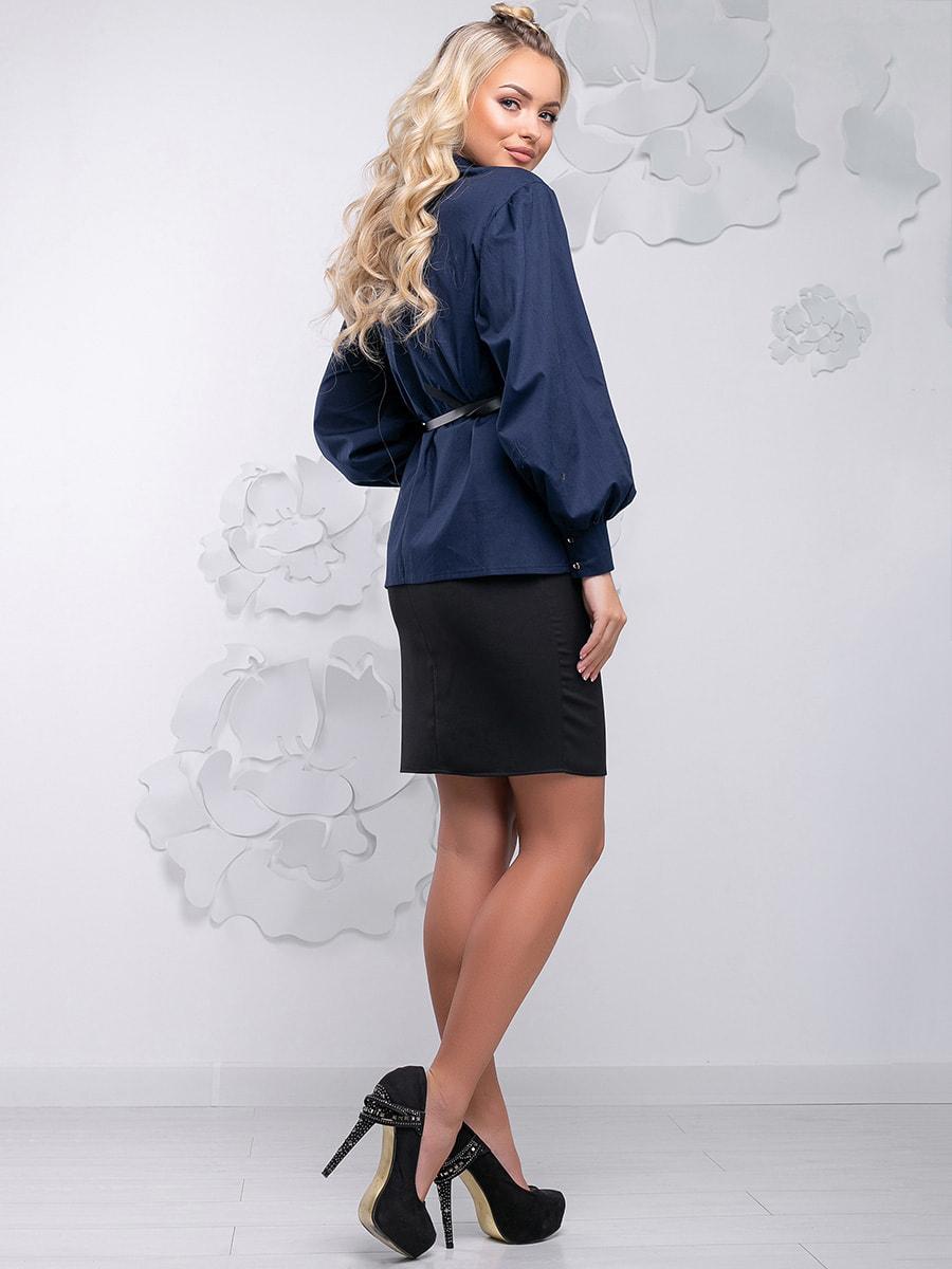 Блуза синя | 4621710 | фото 9