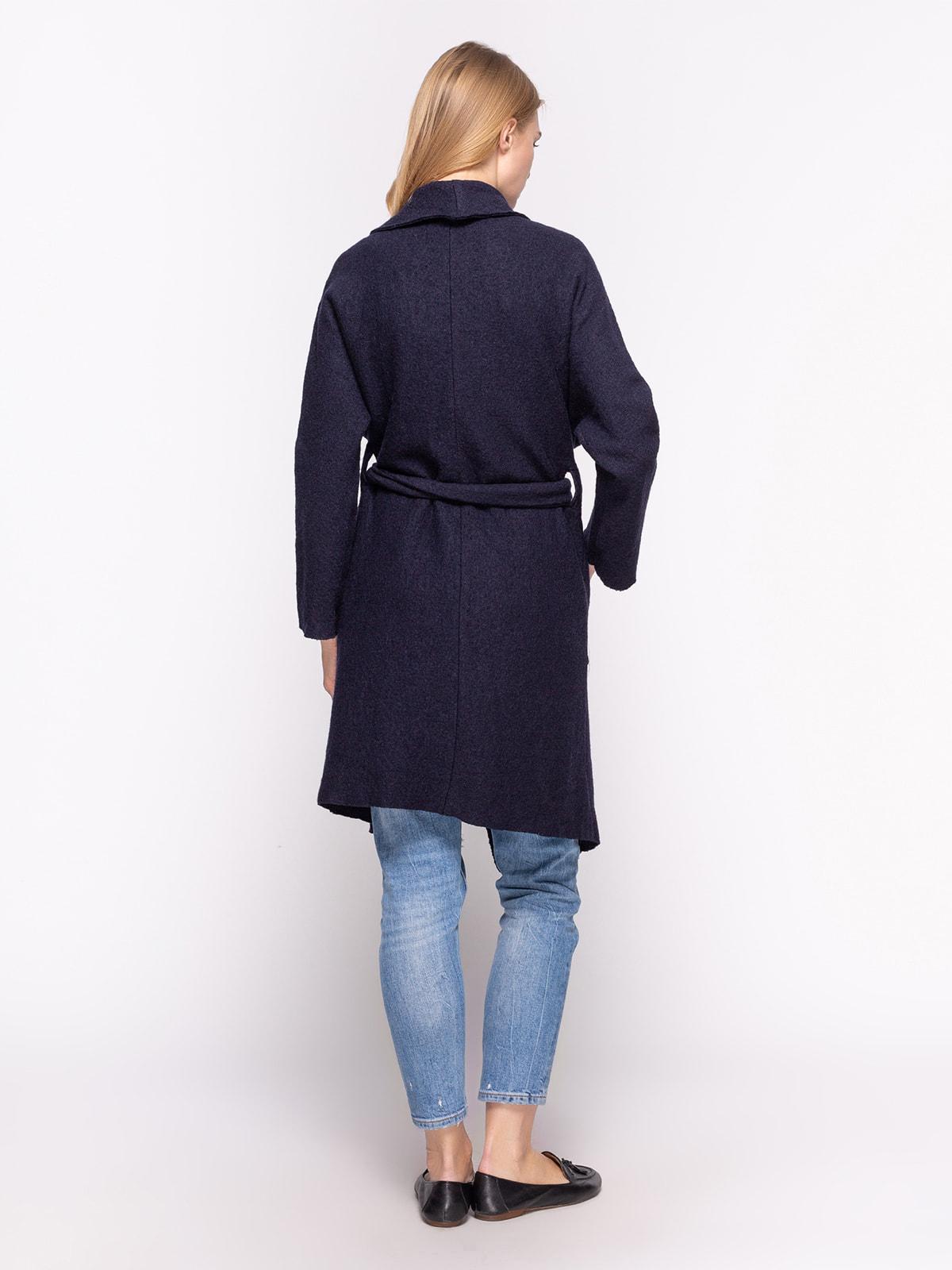 Пальто темно-синее | 2751558 | фото 3