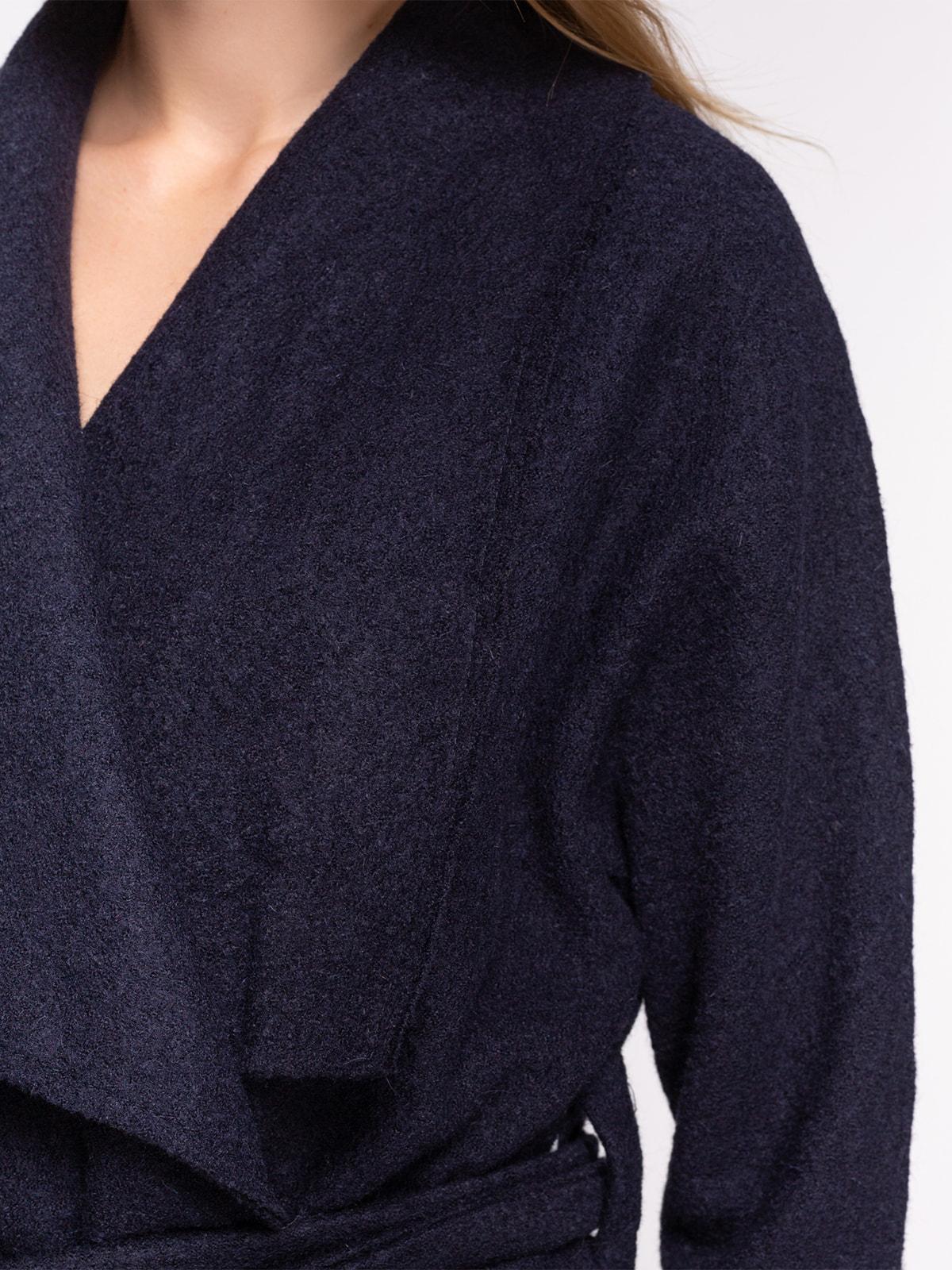 Пальто темно-синее | 2751558 | фото 4