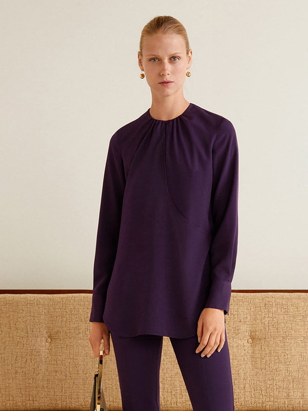 Блуза фиолетовая   4618551