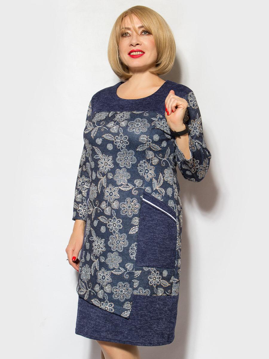 Сукня синя в квітковий принт   4706862
