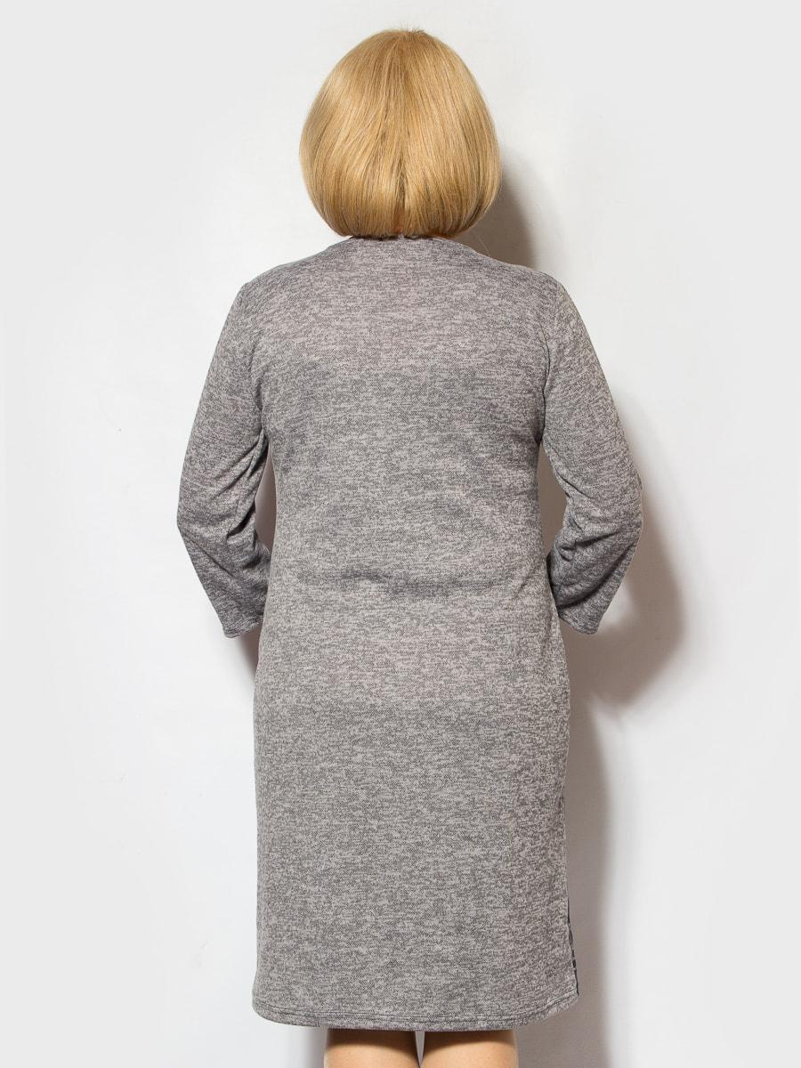 Платье серо-синее в принт   4706866   фото 2