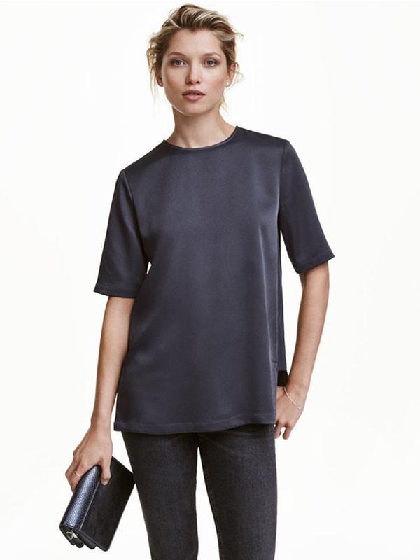 Блуза темно-синя | 4405243