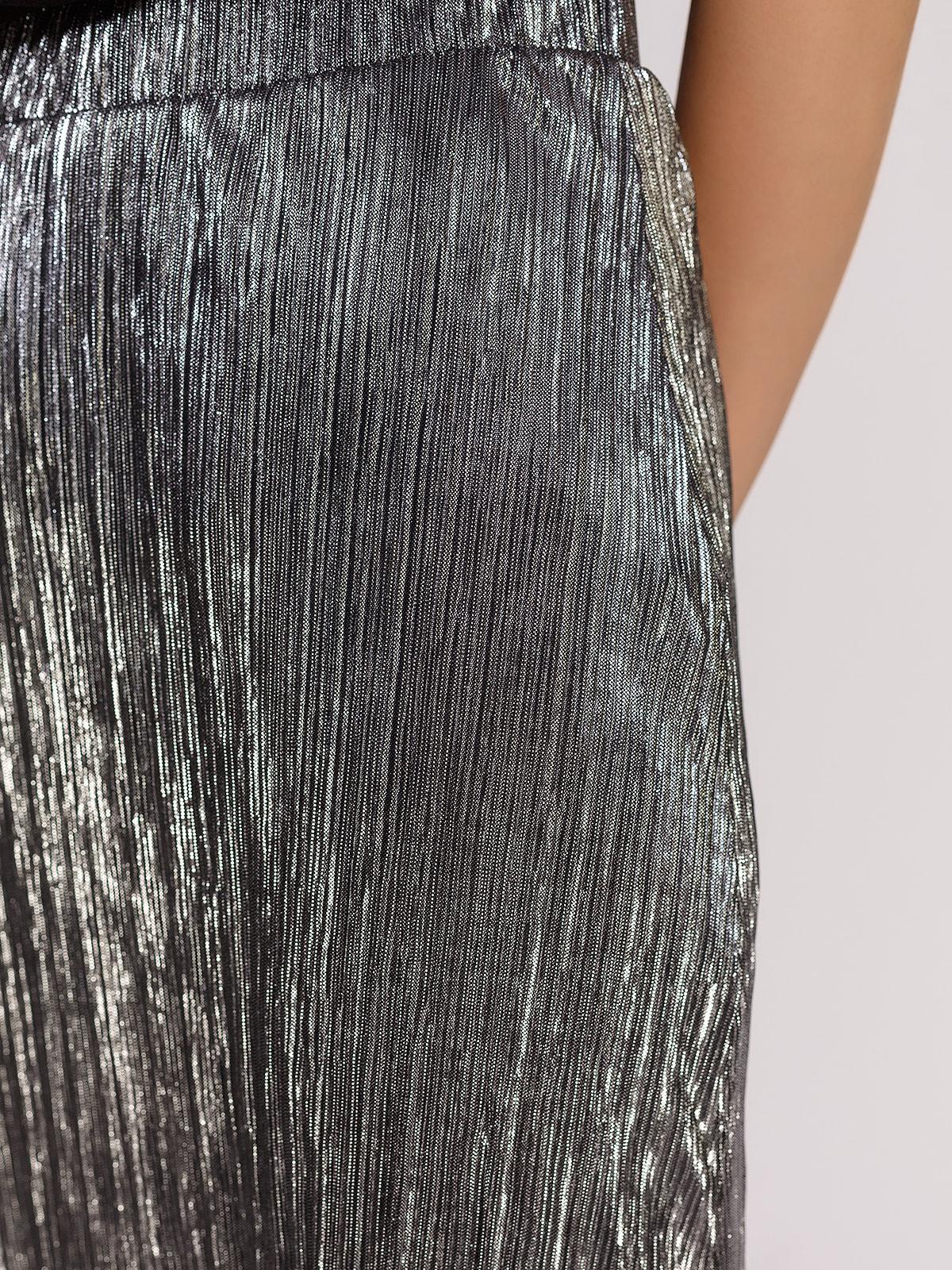 Юбка серебристая | 4640576 | фото 4
