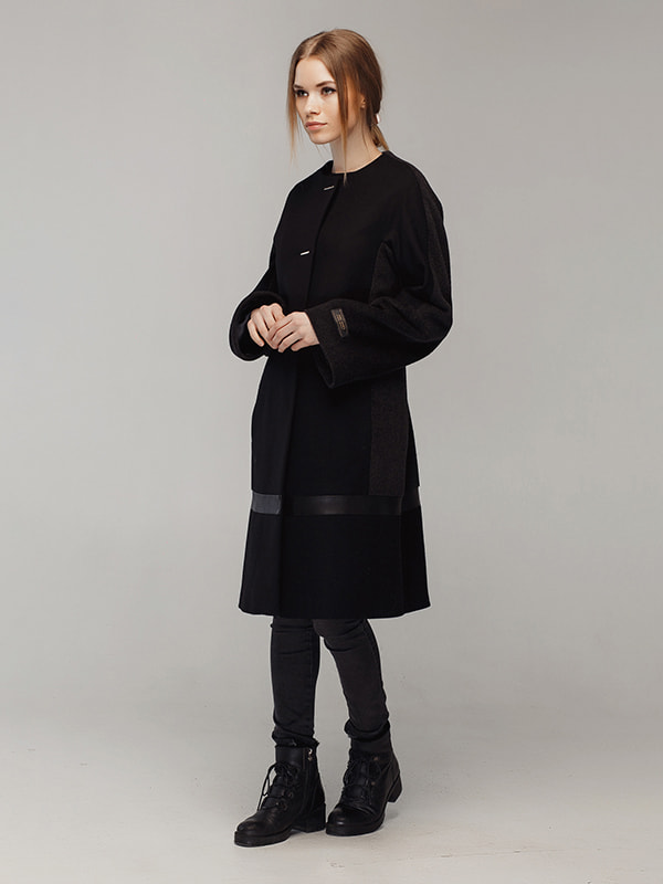 Пальто чорне | 4705209 | фото 2