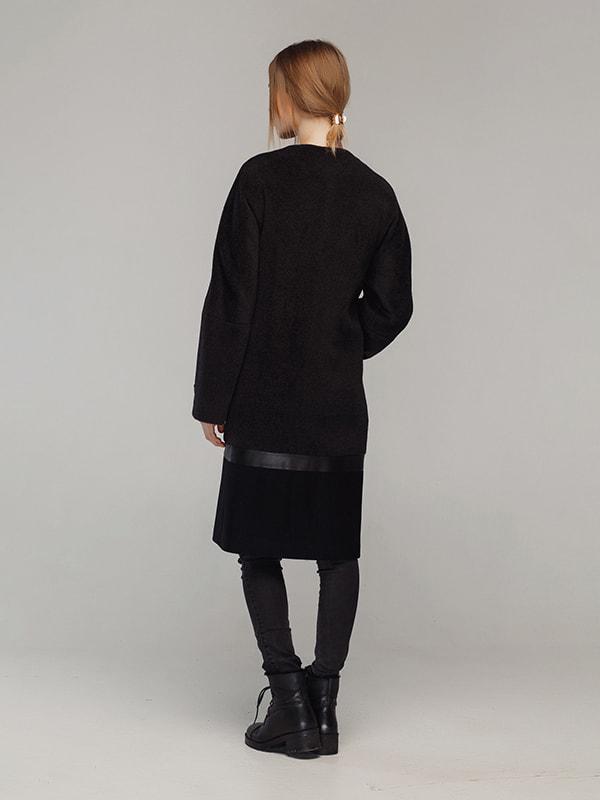 Пальто чорне | 4705209 | фото 3