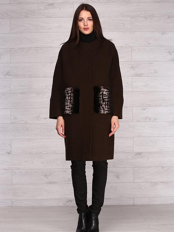 Пальто коричневе | 4705241