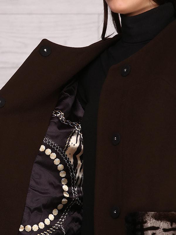 Пальто коричневое   4705241   фото 3