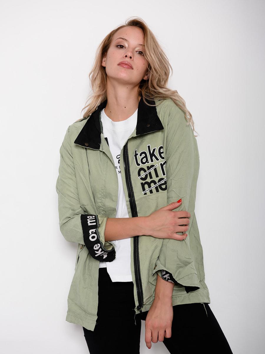 Куртка салатова | 4678429