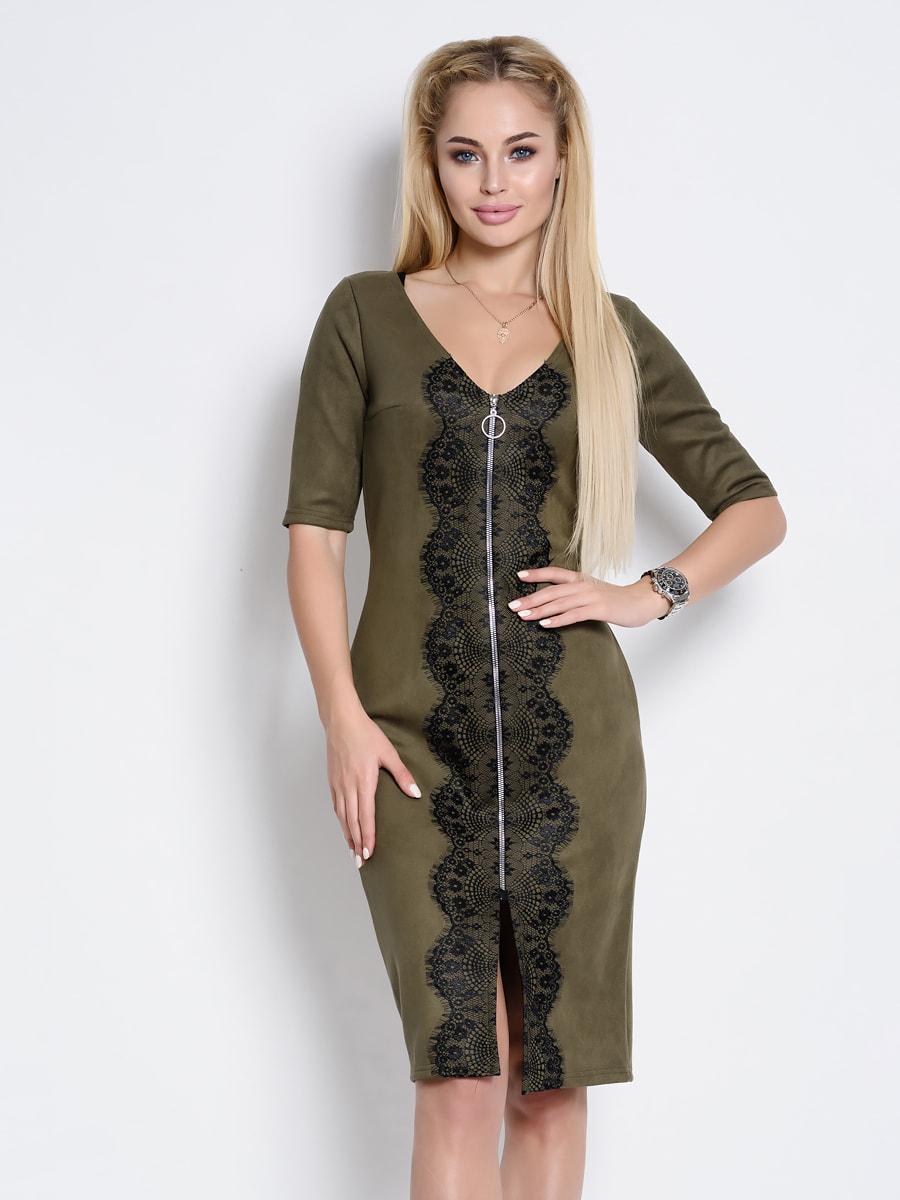 Платье цвета хаки | 4707747