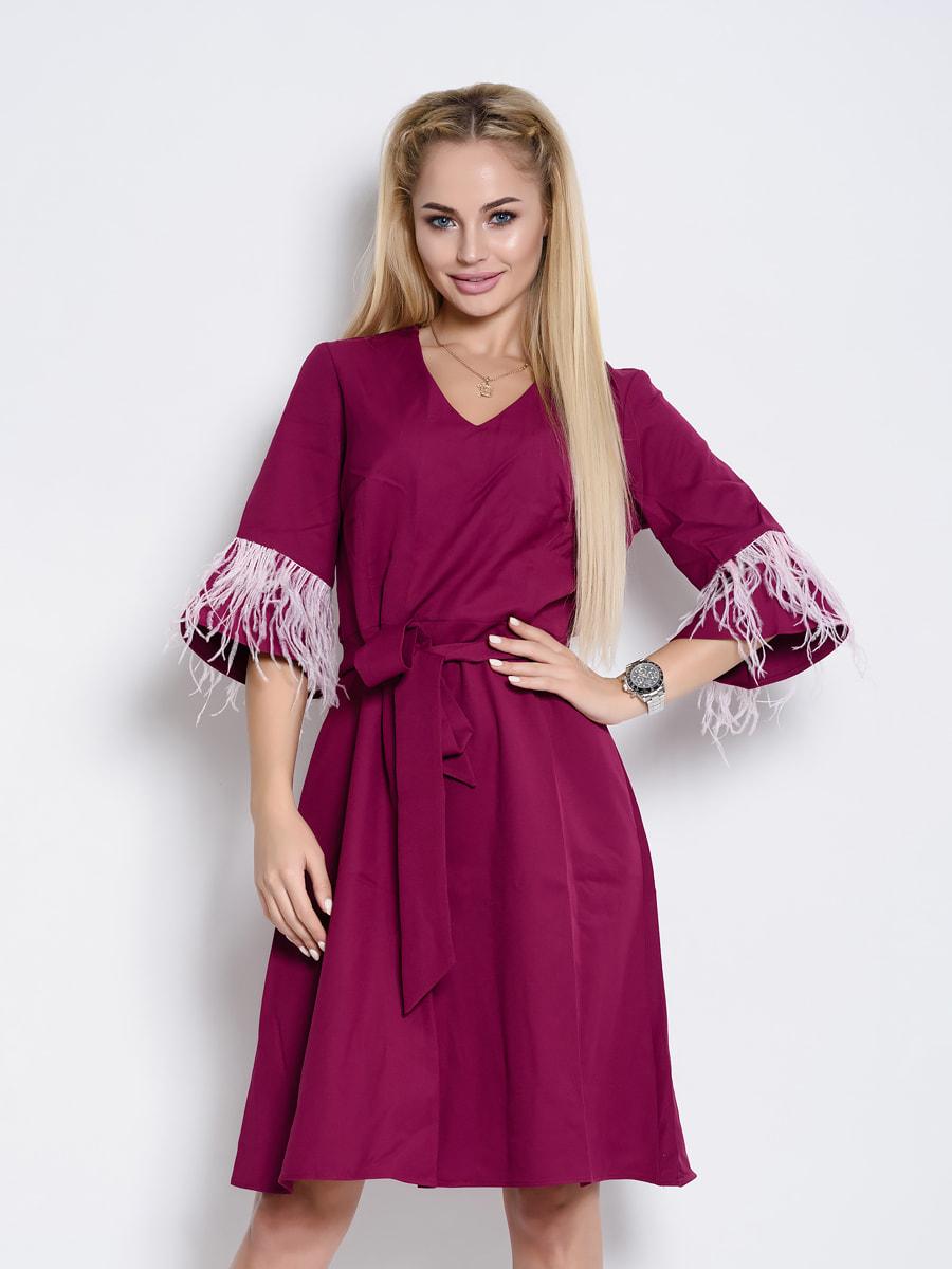 Платье сливового цвета | 4707758