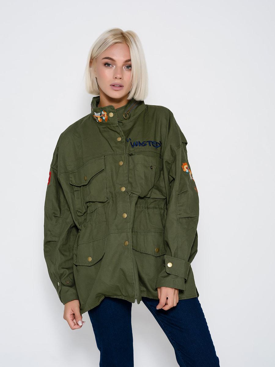Куртка цвета хаки | 4707795