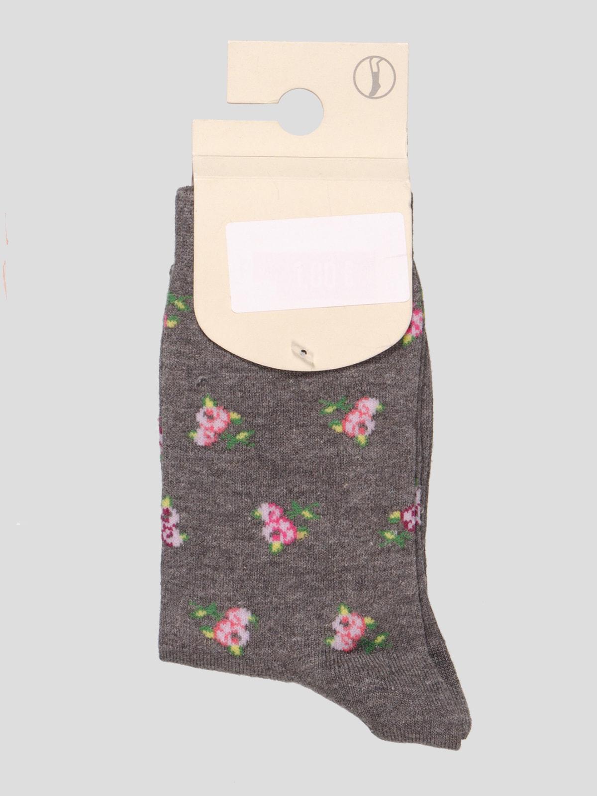 Шкарпетки в квітковий принт | 4647117