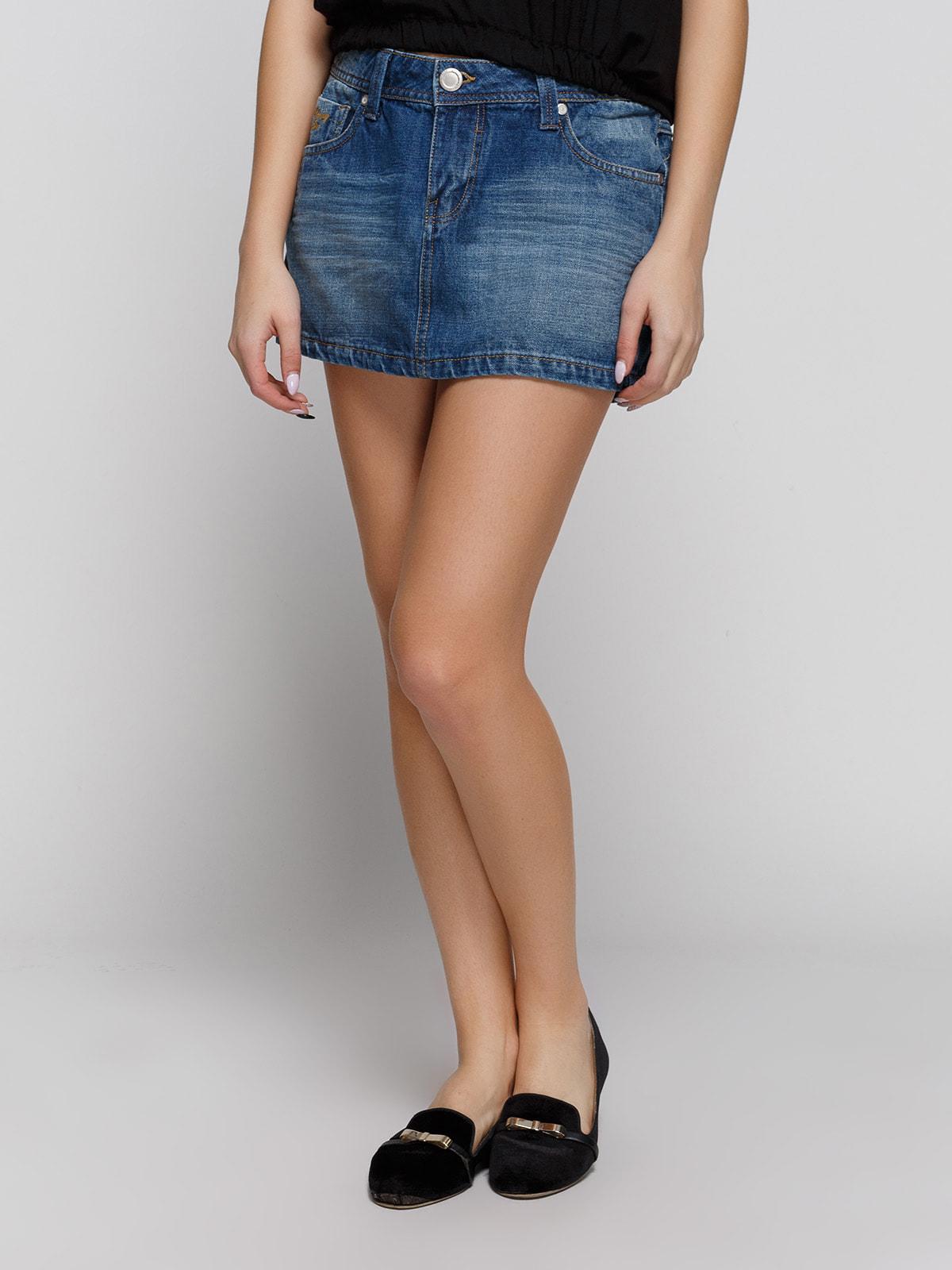 Спідниця синя джинсова | 4641339