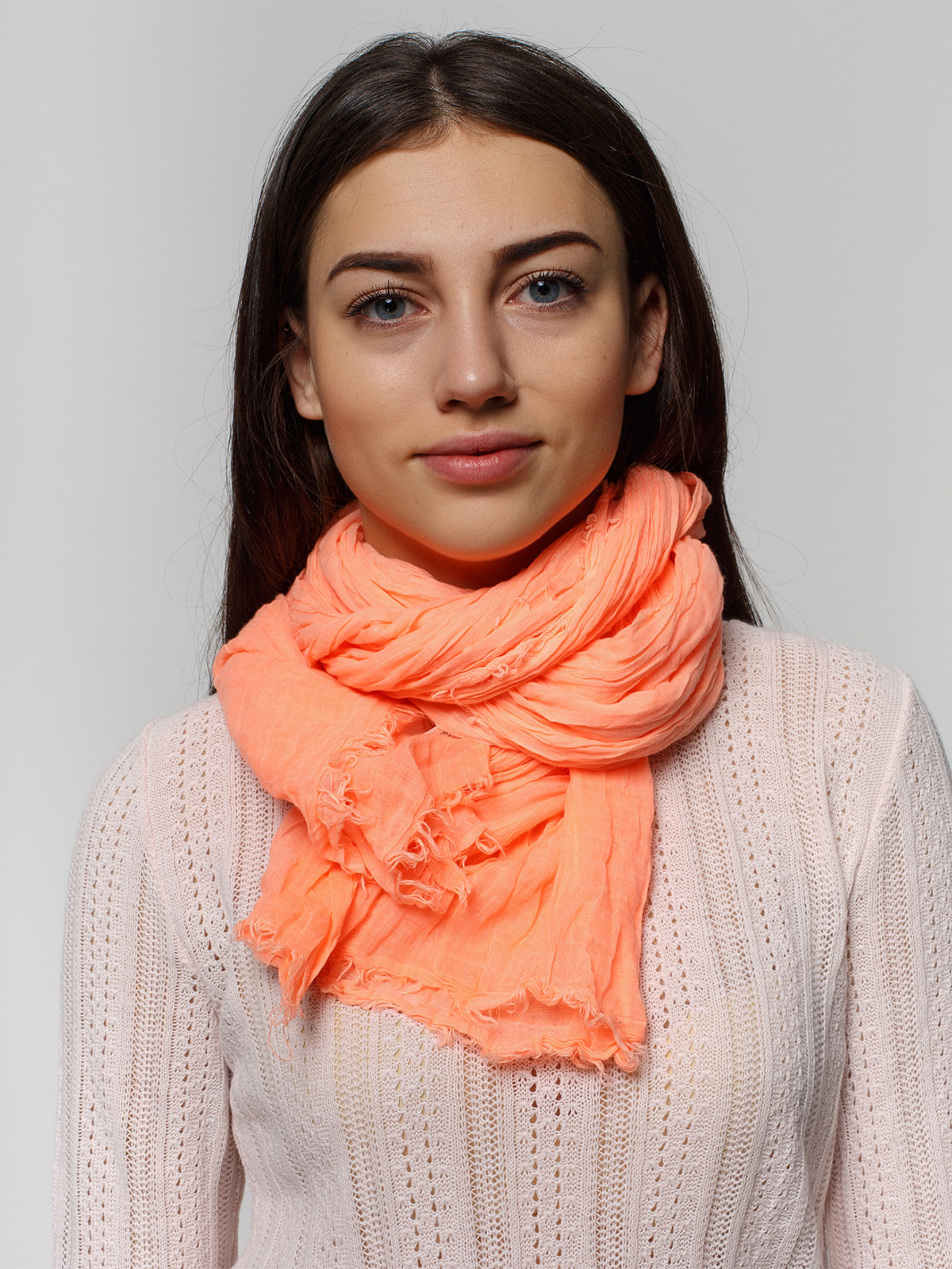 Шарф персикового цвета | 2713557