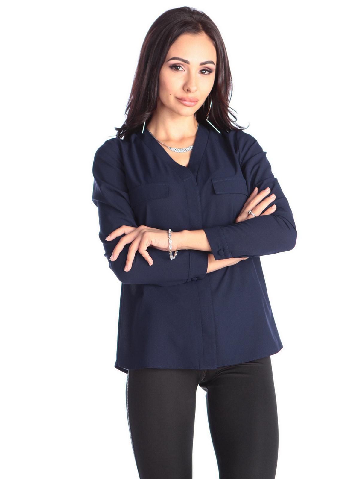 Блуза темно-синя | 4706897