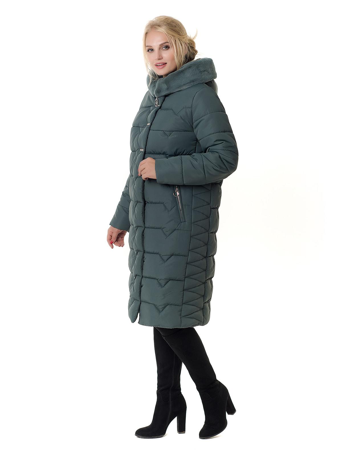 Пальто оливкового цвета | 4709194 | фото 2