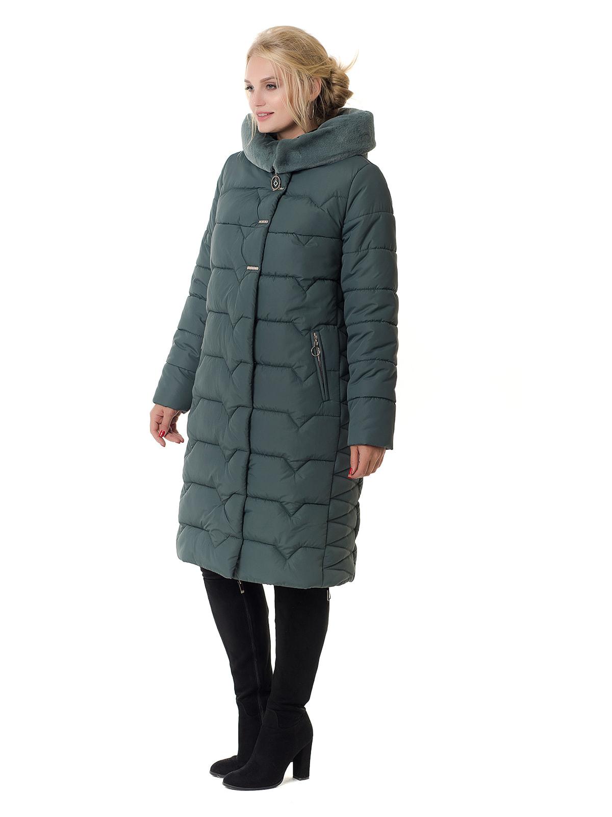 Пальто оливкового цвета | 4709194 | фото 3