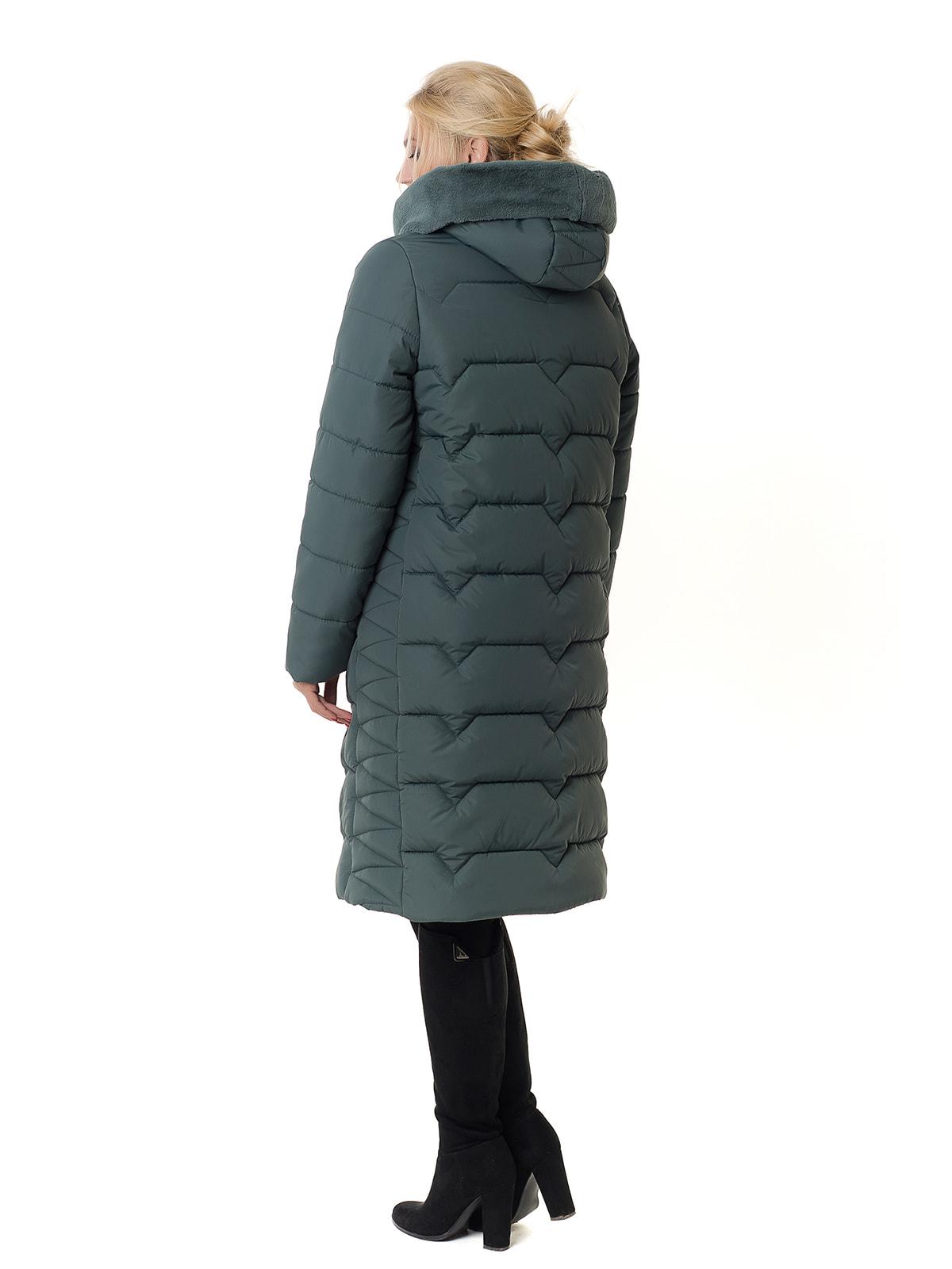 Пальто оливкового цвета | 4709194 | фото 4