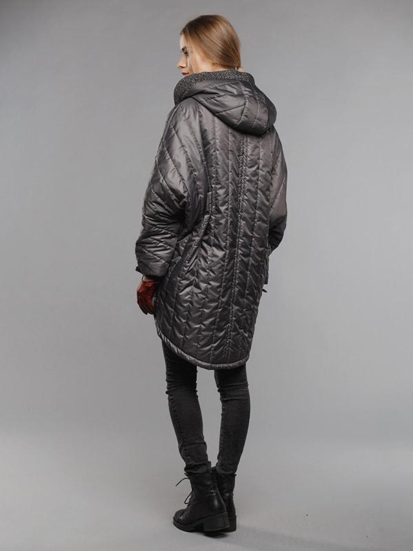 Пальто серое | 4705113 | фото 4