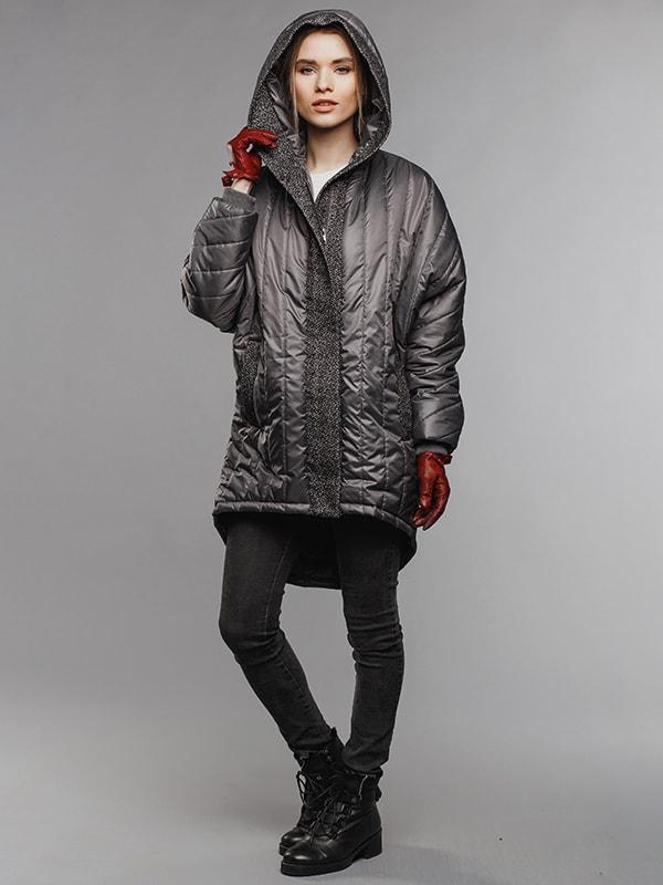 Пальто серое | 4705113 | фото 2