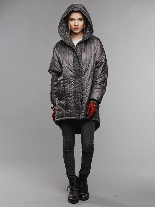 Пальто серое | 4705113 | фото 3