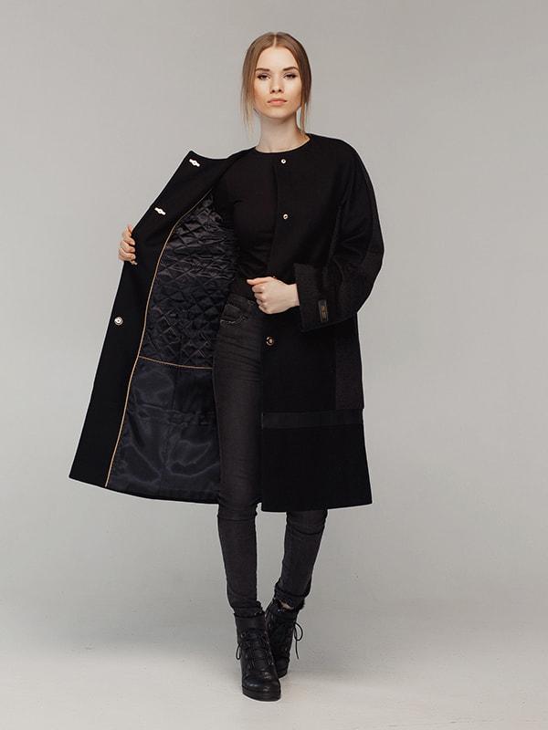 Пальто чорне | 4705209 | фото 6