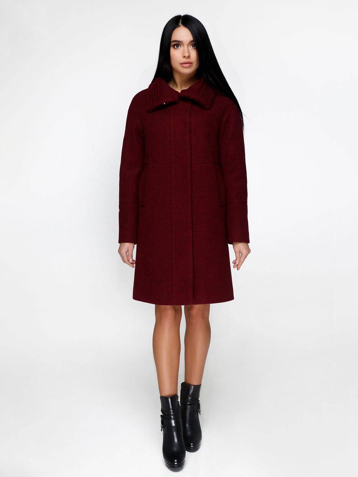 Пальто темно-красное | 4711638