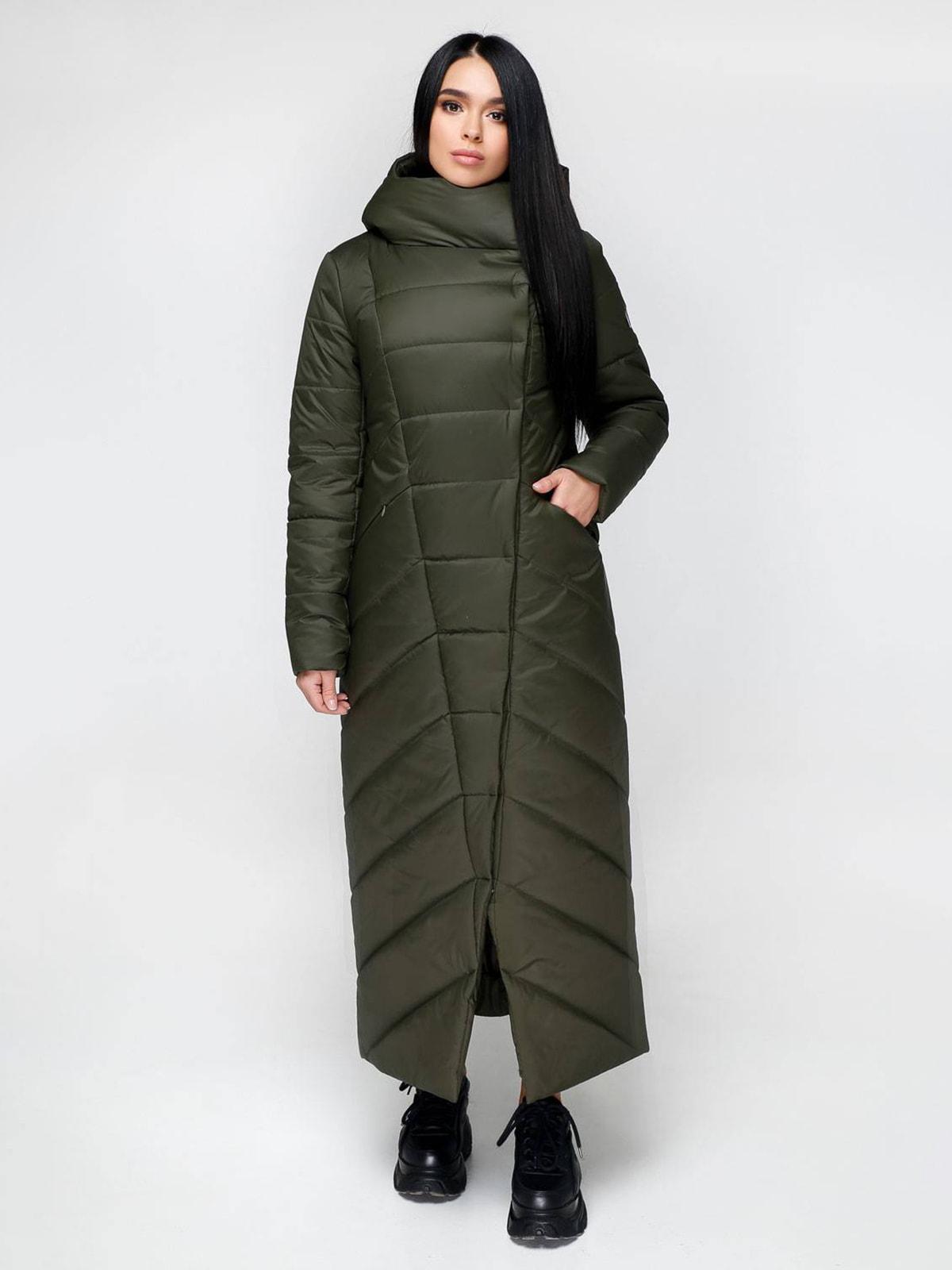 Пальто оливкового кольору | 4711647
