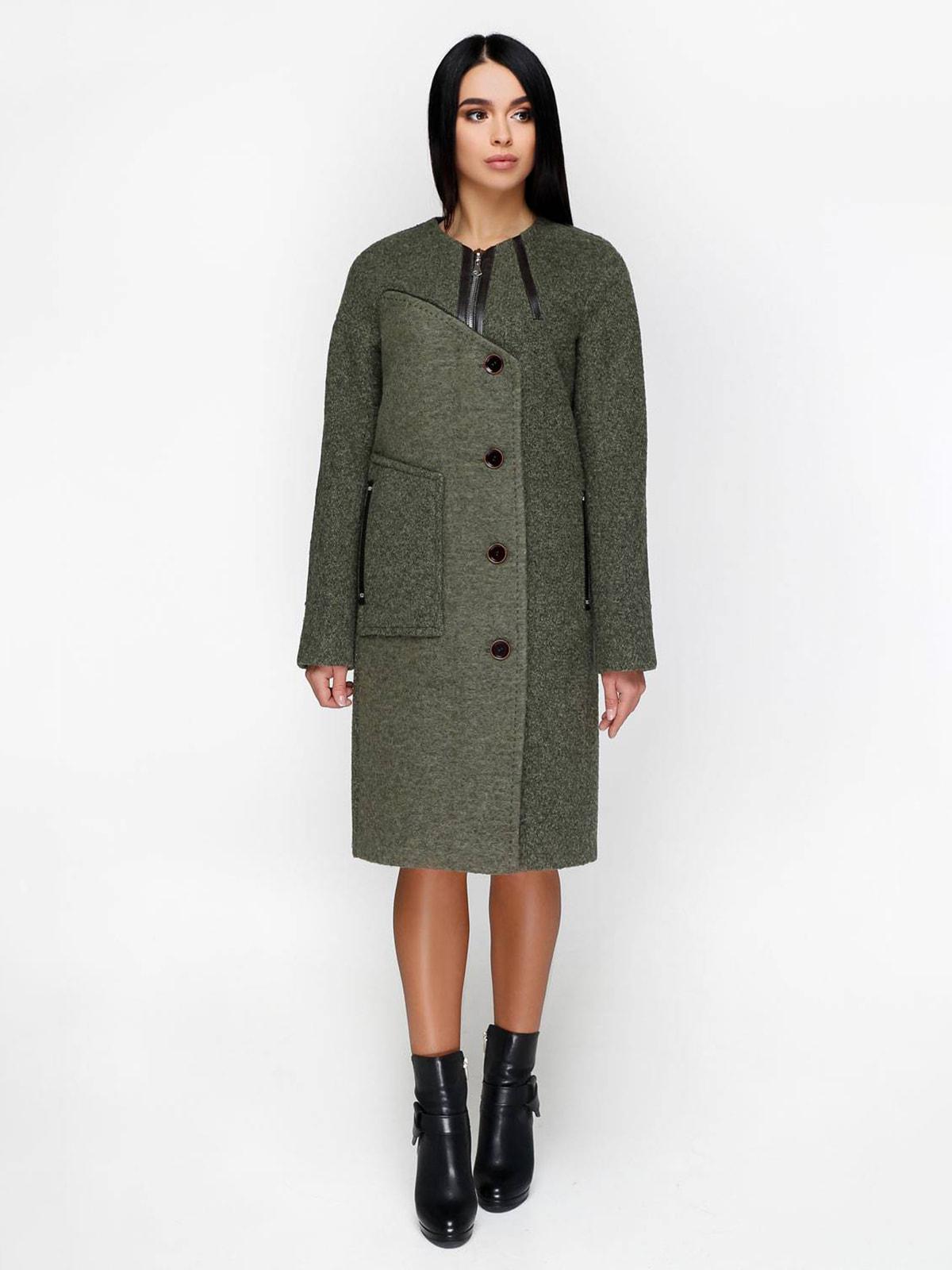 Пальто темно-оливкового цвета   4711650