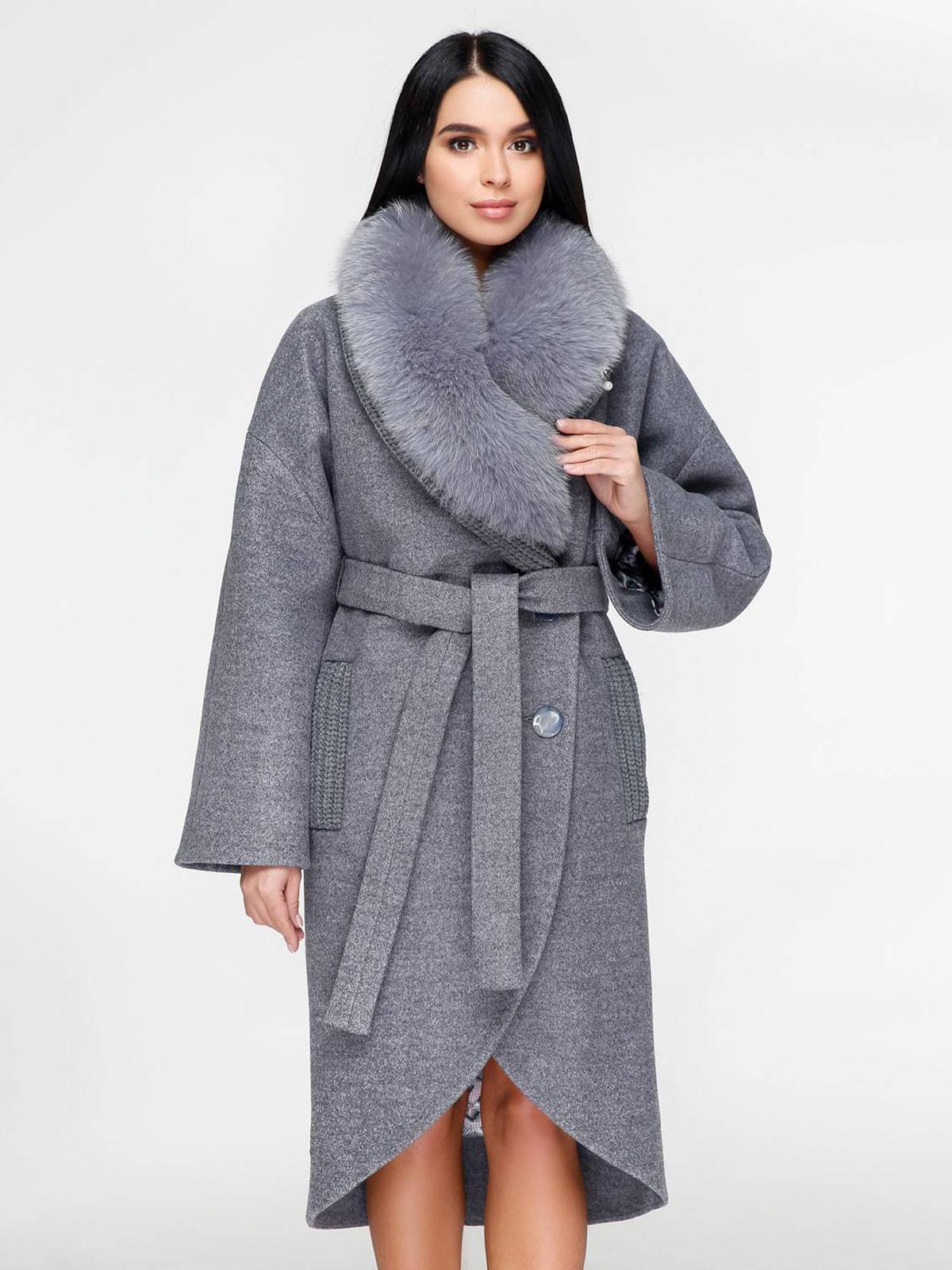 Пальто серое | 4711654 | фото 2