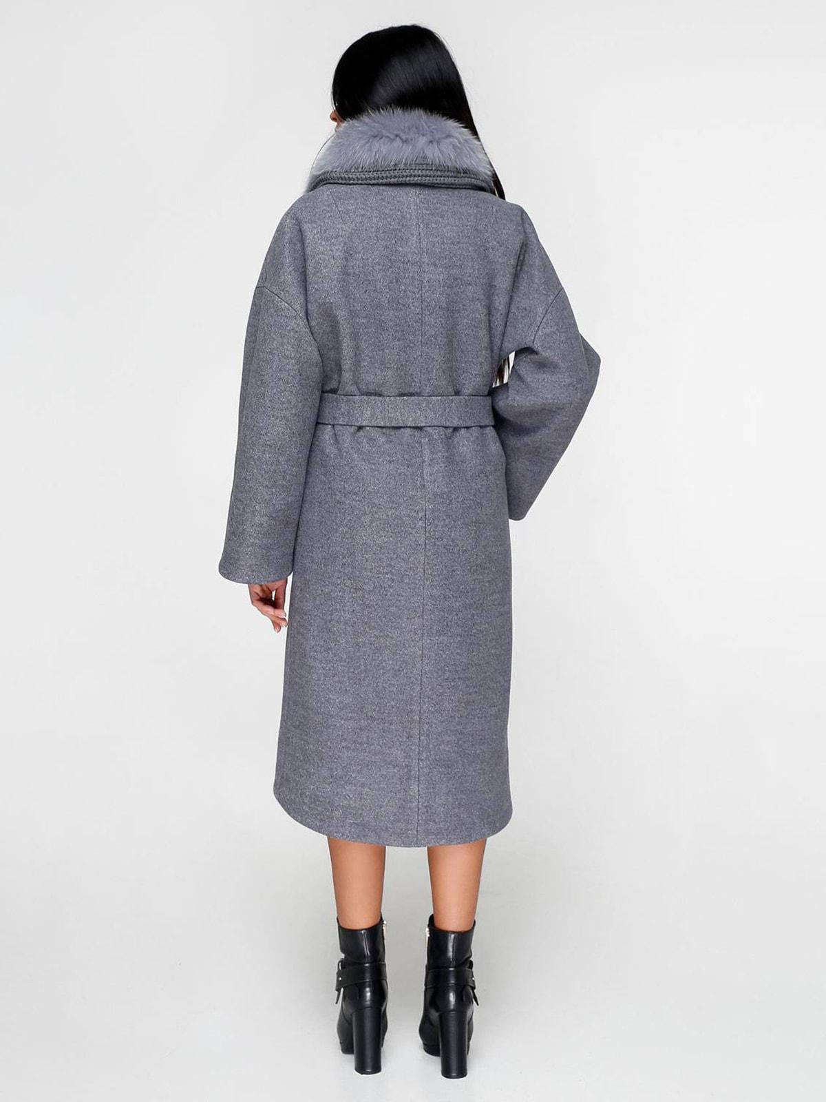 Пальто серое | 4711654 | фото 3
